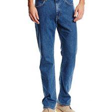 Lee Brooklyn Straight, Vaqueros para Hombre, Azul (Mid Pantalones Vaqueros para hombre