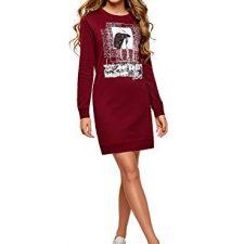 oodji Ultra Mujer Vestido de Estilo Deportivo con Estampado Moda mujer
