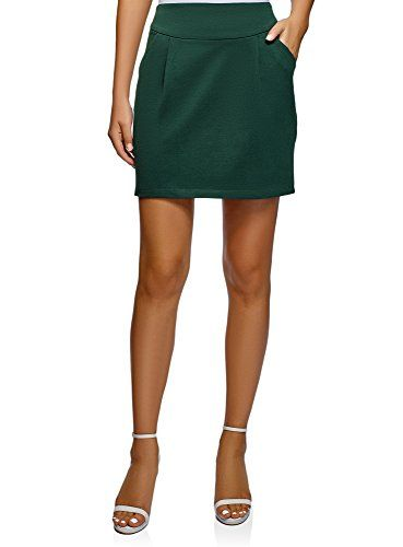 oodji Ultra Mujer Falda de Punto con Cremallera Moda mujer