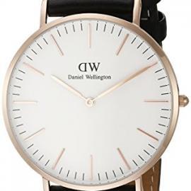 Daniel Wellington - Reloj analógico para caballero de cuero