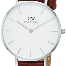 Daniel Wellington Reloj DW00100187 Plateado Cuero Marrón Relojes Daniel Wellington