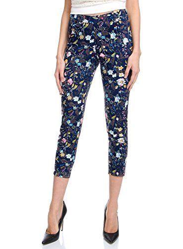 oodji Collection Mujer Pantalones de Algodón Estrechos Moda mujer