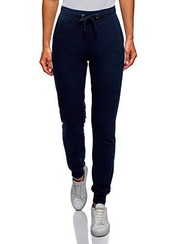 oodji Ultra Mujer Pantalones de Punto con Cordones Moda mujer