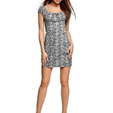 oodji Ultra Mujer Vestido de Algodón con Fruncido en el Moda mujer