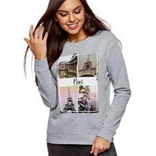 oodji Ultra Mujer Suéter Básico de Algodón Moda mujer