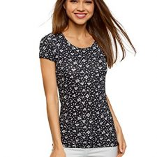 oodji Ultra Mujer Camiseta Estampada Entallada Moda mujer