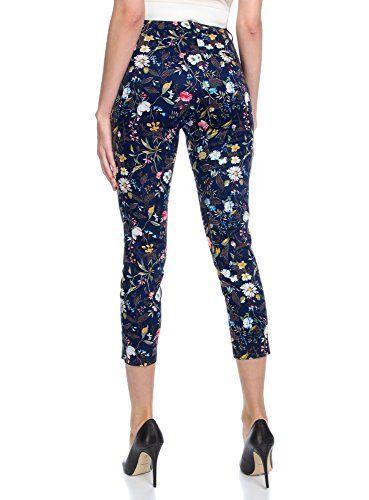 oodji Collection Mujer Pantalones de Algodón Estrechos