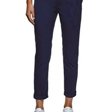 oodji Ultra Mujer Pantalones Básicos de Algodón Moda mujer