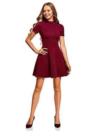 oodji Ultra Mujer Vestido de Tejido Texturizado Moda mujer