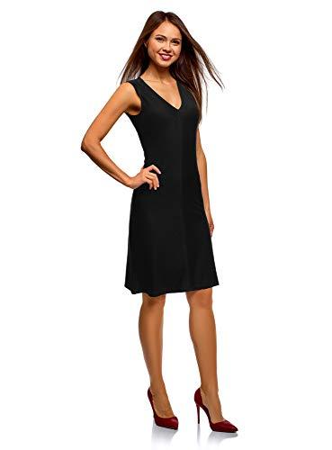 oodji Ultra Mujer Vestido de Punto con Falda-Trapecio
