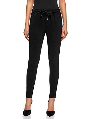 oodji Ultra Mujer Pantalones con Cinturón Elástico con Moda mujer