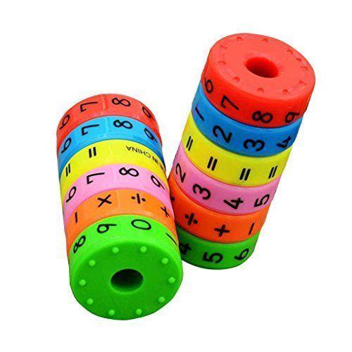 Bobury Magnética aprendizaje de las matemáticas Cilindro Números Juguetes educativos Inteligencia Juguetes educativos