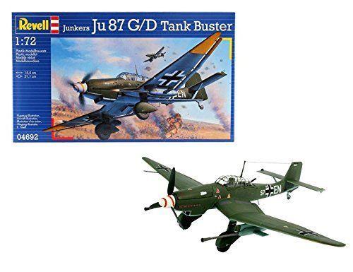 Revell 4692 – Maqueta de Junkers Ju 87 G / D Tank Buster Modelismo y Maquetas