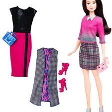 Barbie Fashionistas Muñeca con 2 Conjuntos (Mattel DTD) Barbie