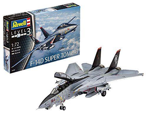 Revell- Grumman F-14D Super Tomcat, Kit de Modelo, Escala Modelismo y Maquetas