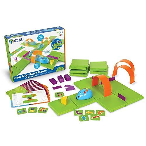 Learning Resources Juego de Actividades de ratón Robot Code & Go de recursos de Aprendizaje Juguetes educativos