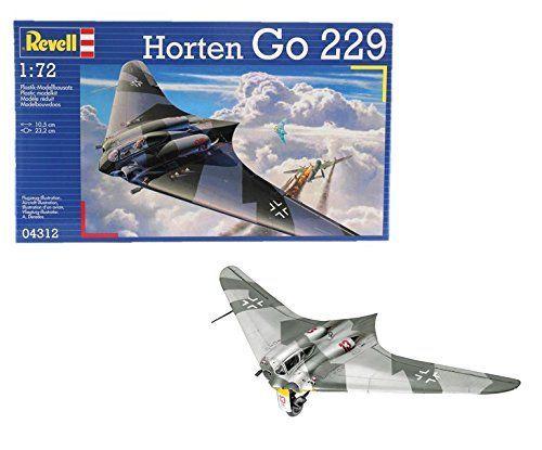 Revell- Horten Go-229, Kit de Modelo, Escala 1:72 (4312) Modelismo y Maquetas