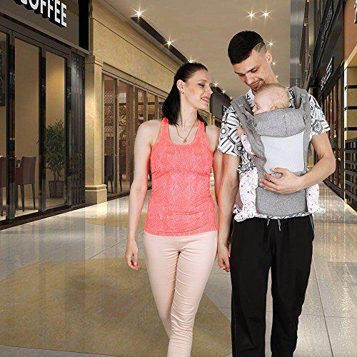 Lictin Mochilas portabebé Manos libres – Portabebés transpirable ergonómicamente diseñado