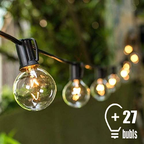 Guirnalda Luces, Tomshine G40 Guirnaldas Luminosas de Exterior, 25 Bombillas Incandescentes Cadena Iluminación LED