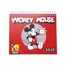 Grupo Erik Editores CS19009 – Calendario de sobremesa 2019 Mickey 90 Anniversary, 17 x 20 cm Otros Productos