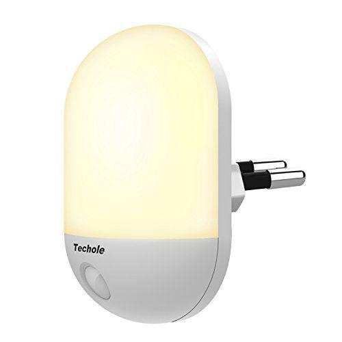 Luz Nocturna Infantil, Techole Lámpara Nocturna Enchufe con Sensor de Luz Automático, Luz Iluminación LED