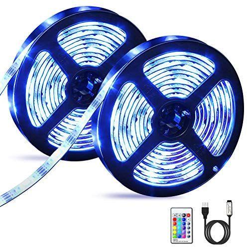 Tiras LED 6M, OMERIL Impermeable Tira LED USB con Control Remoto, 5050 RGB LED Strip con 4 Modos y Iluminación LED