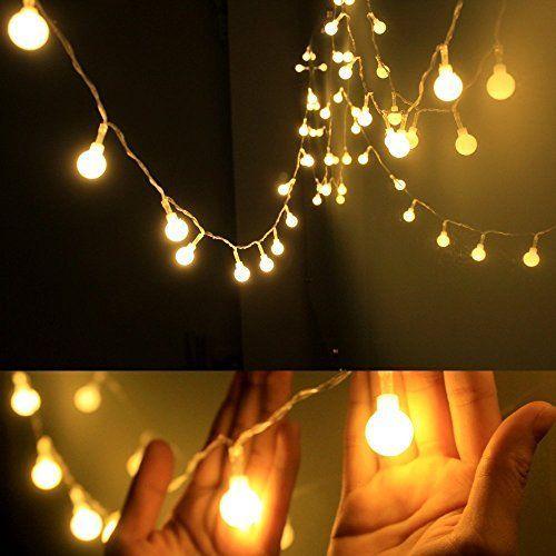 iLAZ Guirnarldas Blancas de Luz Cálida LED Luces del Efecto Estrellado (Jardines, Casas, Boda, Iluminación LED
