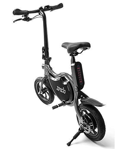 ZEECLO E-Bike Eléctrica Plegable Box 12″ Patinetes Eléctricos