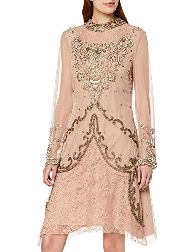 Frock and Frill Fatima High Neck Embellished Mini Dress Vestido Fiesta Mujer Vestidos Frock And Frill