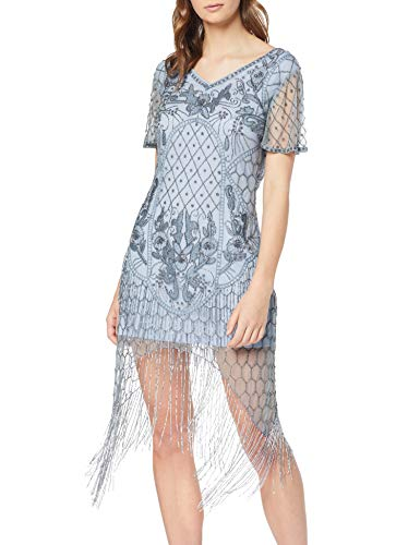 Frock and Frill Fantasia Flapper Style Embellished Cap Sleeve Dress Vestido Fiesta Mujer Vestidos Frock And Frill