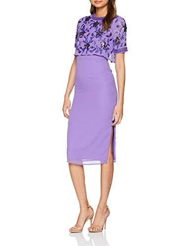 Frock and Frill Embellished Two Tier Pencil Dress, Vestido de Fiesta para Mujer Vestidos Frock And Frill