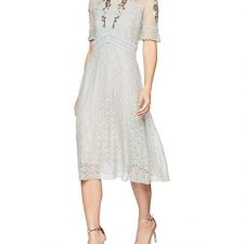 Frock and Frill Embroidered Lace High Neck Dress, Vestido de Fiesta para Mujer Vestidos Frock And Frill