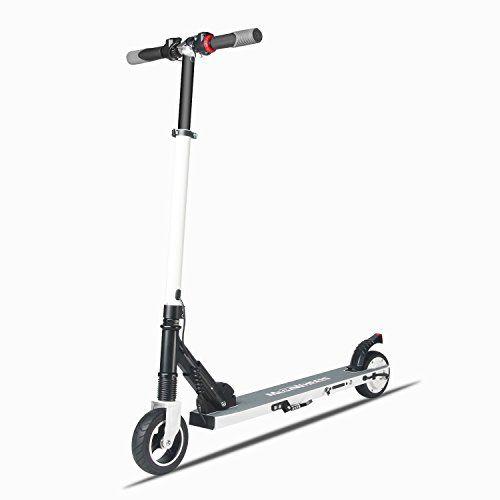 M MEGAWHEELS Scooter electrico, Patinete electrico es Ajustable la Altura para los Adolescentes y Patinetes Eléctricos