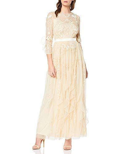 Frock and Frill Genette Lace Long Sleeve Maxi Vestido Fiesta Mujer Vestidos Frock And Frill
