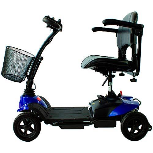 Mobiclinic Scooter eléctrico | 4 Ruedas | con Asiento | Minusválido | Compacta y Desmontable | Patinetes Eléctricos