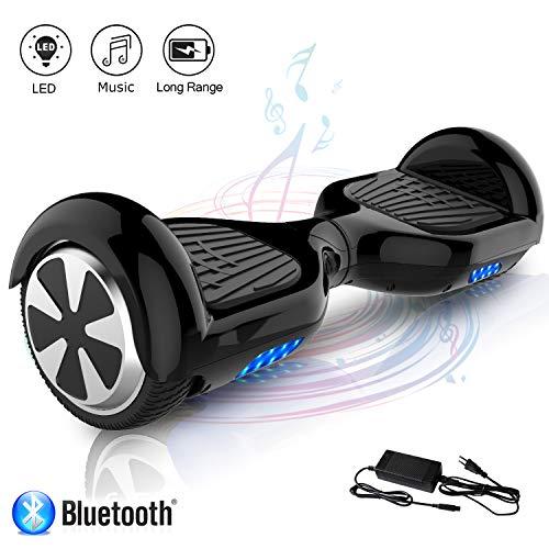 COLORWAY Patinete Eléctrico Auto Equilibrio Hoverboard 6.5 Pulgadas con Bluetooth y LED Patinetes Eléctricos