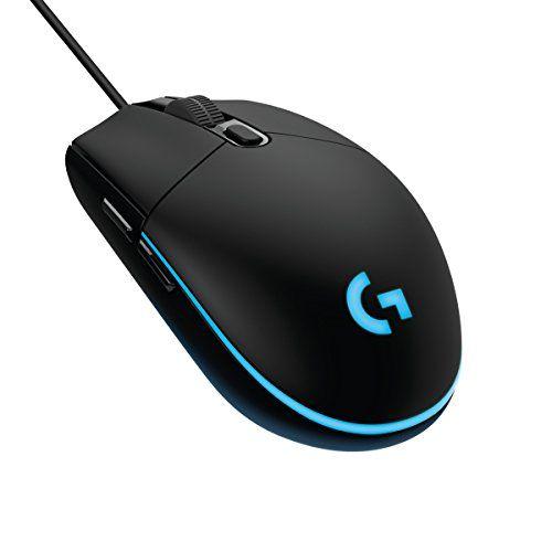 Logitech G203 Prodigy, Ratón óptico para Gaming con Cable, 8.000 DPI, LED Personalizable con 16,8 Accesorios informática