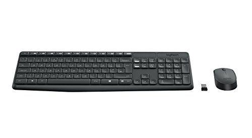 Logitech 920-007919 MK235 – Teclado y ratón inalámbrico, negro Accesorios informática