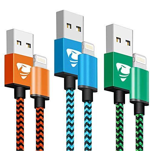Aioneus Cargador Cable 2M [3 Pack] Trenzado de Nylon Cable USB Accesorios informática