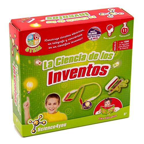 Science4you-La La Ciencia de Los Inventos – Juguete científico y Educativo Stem para Niños +8 Juguetes educativos