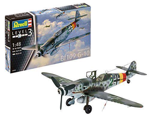 Revell- Messerschmitt Bf109 G-10, Kit de Modelo, Escala 1:48 (3958) (03958), 18,9 cm ( Modelismo y Maquetas