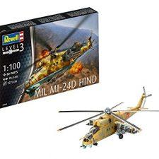 Revell- Maqueta Helicóptero Mil Mi-24D Hind, Kit Modello, Escala 1:100 (4951) (04951), 19,4 cm de Modelismo y Maquetas