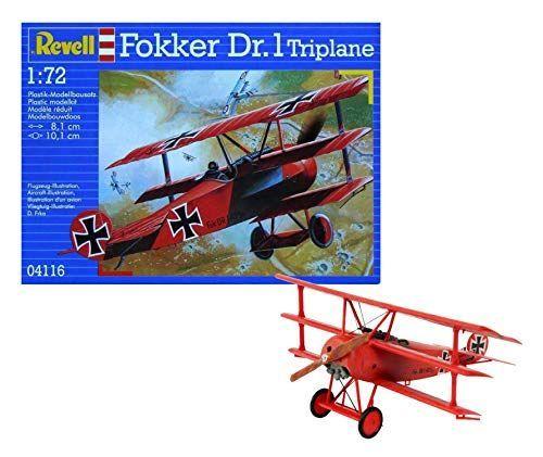 Revell- Fokker Dr triplano, Kit de Modelo, Escala 1:72 (4116) (04116),, 8,1 cm Modelismo y Maquetas