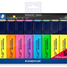 Staedler 364AWP8 – Set de 8 marcadores fluorescentes Material de Oficina y Papelería