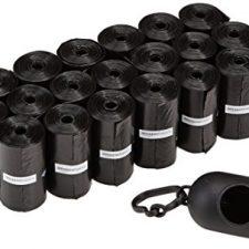 AmazonBasics – Bolsas para excrementos de perro con dispensador y clip para correa (300 bolsas) Productos para Mascotas