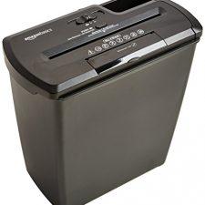 AmazonBasics – Destructora de papel, tarjetas de crédito y CD con recipiente separable (corte Material de Oficina y Papelería