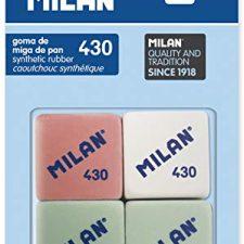 Milan BMM9215 – Pack de 4 gomas de borrar Material de Oficina y Papelería