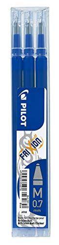 Pilot BLS-FR7-L-S3 – Recambio Frixion, color azul, paquete de 3 unidades Material de Oficina y Papelería