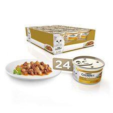 Purina Gourmet Gold Bocaditos en Salsa comida para gatos con Pollo e Higado 24 x 85 g Productos para Mascotas