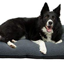 ZOLLNER Cama para Perros, colchoneta para Mascotas, 70×100 cm, Lavable, Gris Productos para Mascotas